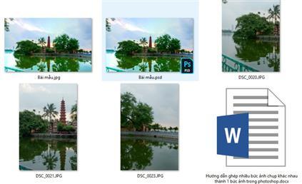 Hướng dẫn ghép nhiều bức ảnh chụp khác nhau thành 1 bức ảnh trong photoshop