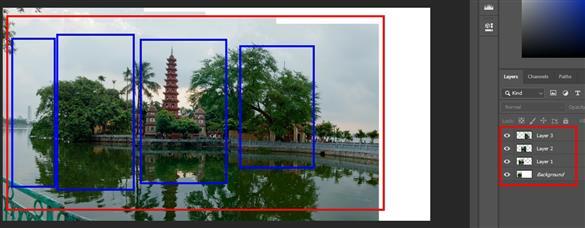 Hướng dẫn ghép ảnh trong photoshop