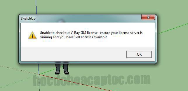 Vray không sử dụng được báo lỗi License server