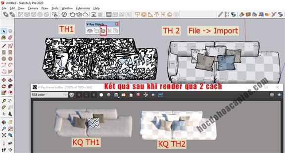 Hướng dẫn xuất file từ 3ds max sang Sketchup