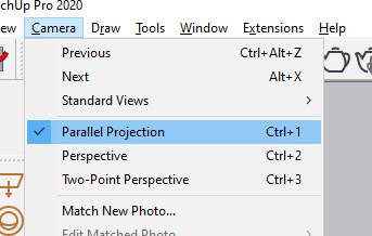 Lỗi hiển thị mặt cắt trong sketchup