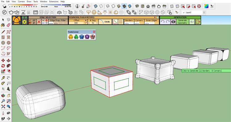 Hướng dẫn sử dụng plugin FREDO CORNER trong sketchup