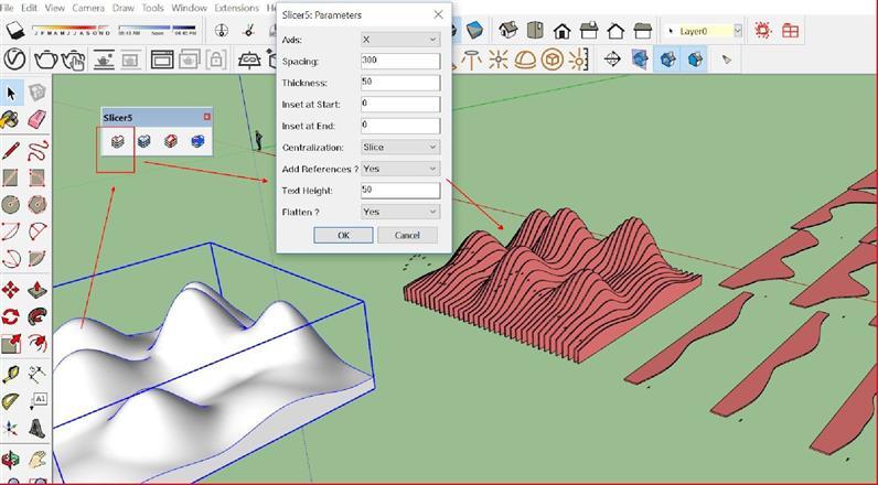 Hướng dẫn sử dụng plugin SLICER5 trong sketchup