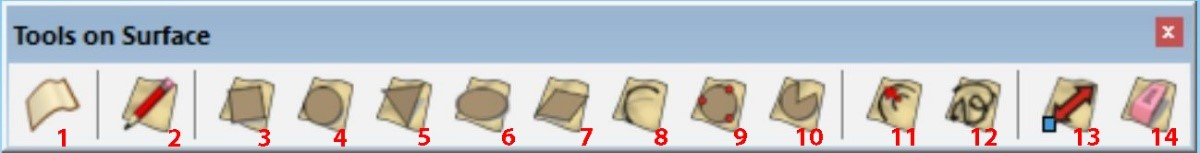 Hướng dẫn sử dụng plugin TOOLS ON SURFACE trong sketchup