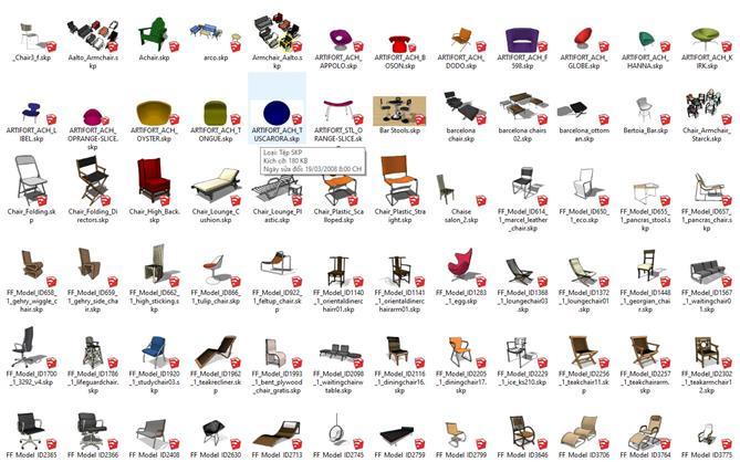 Chia sẻ file thư viện sketchup P2
