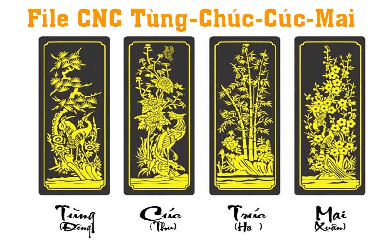 File CNC Tùng Chúc Cúc Mai cực đẹp
